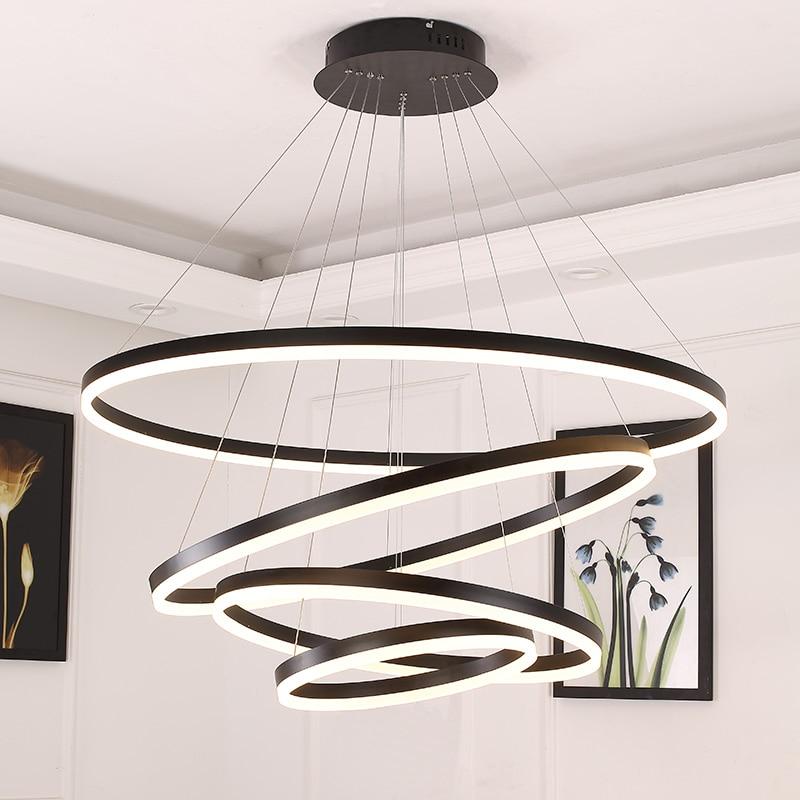 White/Black pendant lights for diningroom bedroom Smart home lighting suspension luminaire lamparas de techo colgante moderna