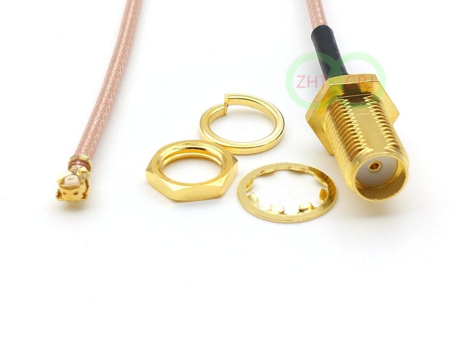 3000 قطعة SMA أنثى الجوز الحاجز إلى U FL IPX IPEX RF Coax محول RG178