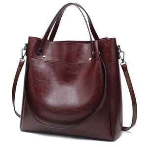 Handbag 2019 New Fashion Bag Version Shoulder Bag Messenger Bag Ladies Bag Women Leather Handbags PU   Bucket