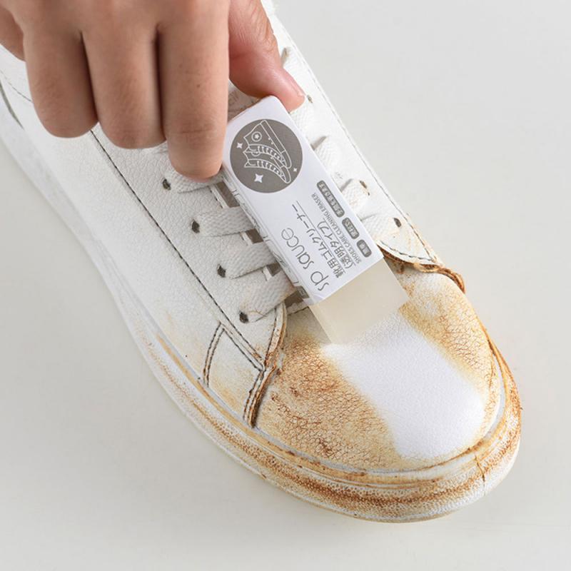 Goma de limpieza gamuza piel de oveja cuero mate y Tela de cuero cuidado de los zapatos limpiador de cuero limpieza zapatillas cuidado