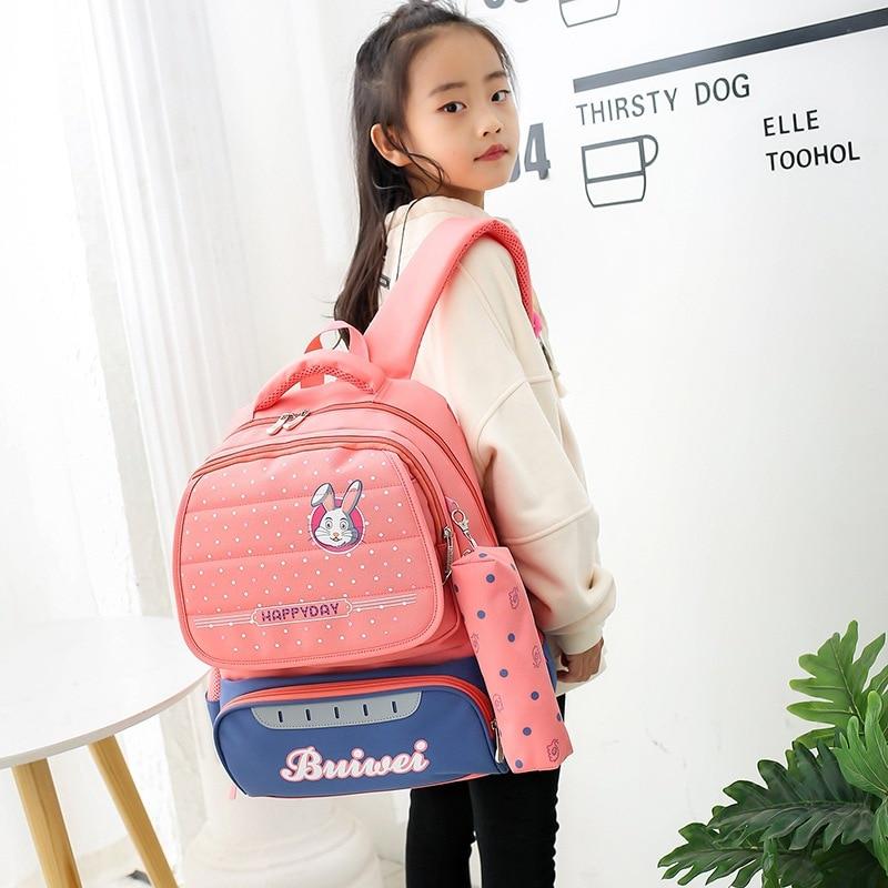New Children School Bags Kids Backpack Girls Primary Student Book Bag Elementary Schoolbags Waterproof Children Student Backpack challenges 1 student book