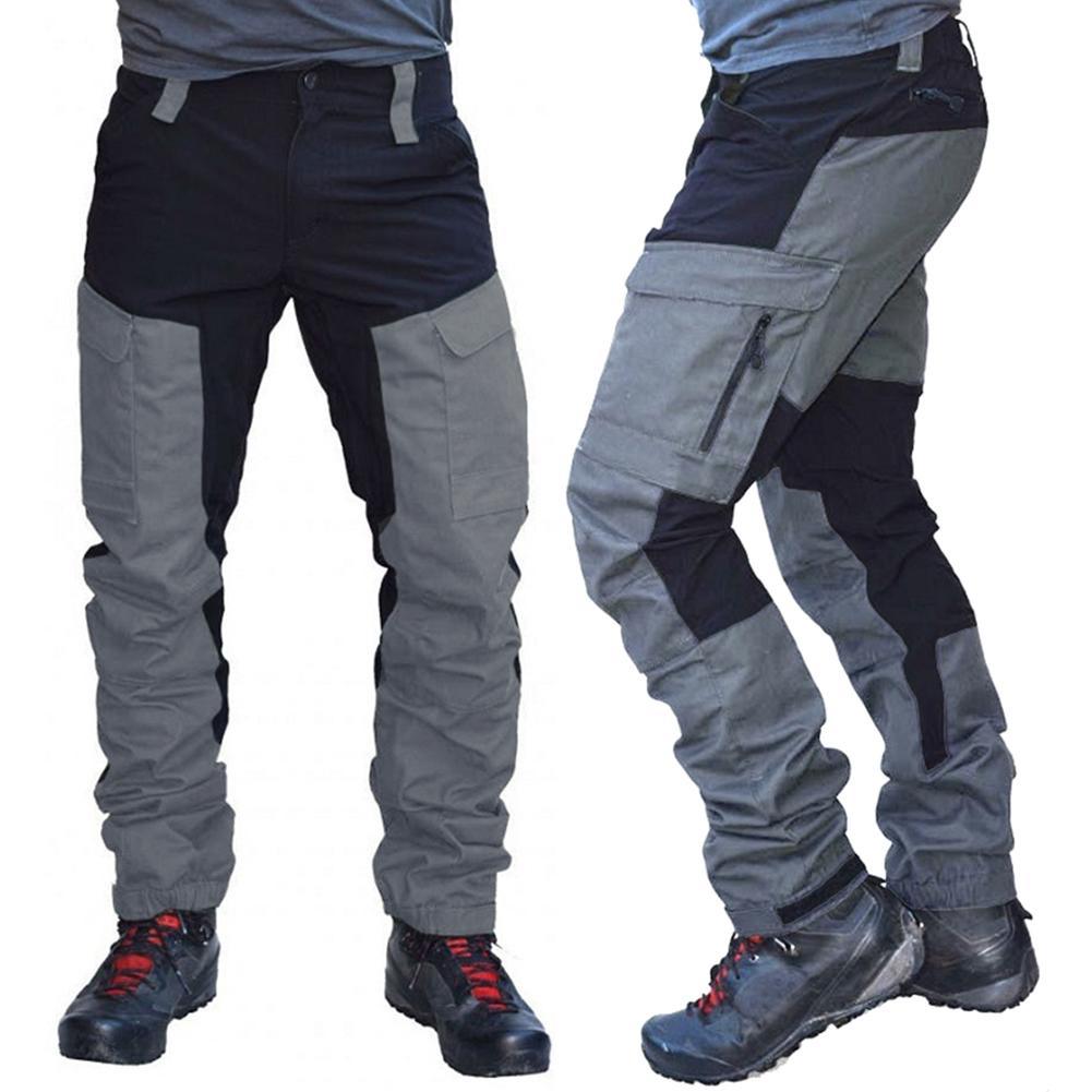 2020 Homens de verão Cor Da Moda Bloco Multi Bolsos Esportes Calças Compridas De Carga Calças de Trabalho adequado para o desgaste diário мужская одежда
