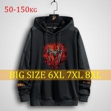 Plus Size Men's Hoodies Printing Anime Hero streetwear oversized sweatshirt clothing 150kg big men s