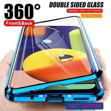 360 магнитный чехол для Xiaomi Redmi Note 9s 9 8 7 K20 Pro 8T 9A 9C 8A Mi 10T Примечание 10 Lite 9T Pro Poco X3 NFC M3 стеклянная крышка Funda