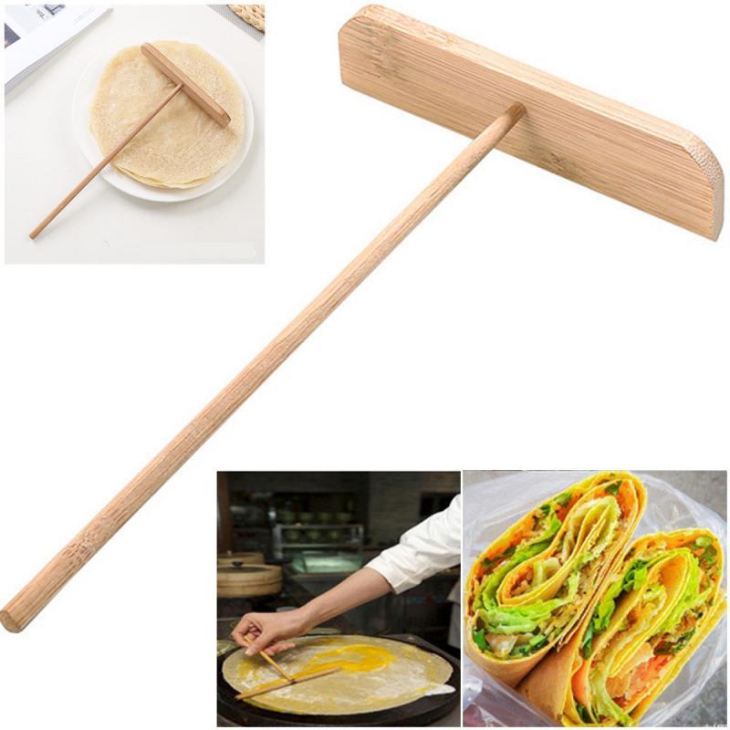 Инструмент для приготовления блинов, скребок для яичного пирога, шпатель для жарки, китайский деревянный расширитель, бытовые кухонные инс...
