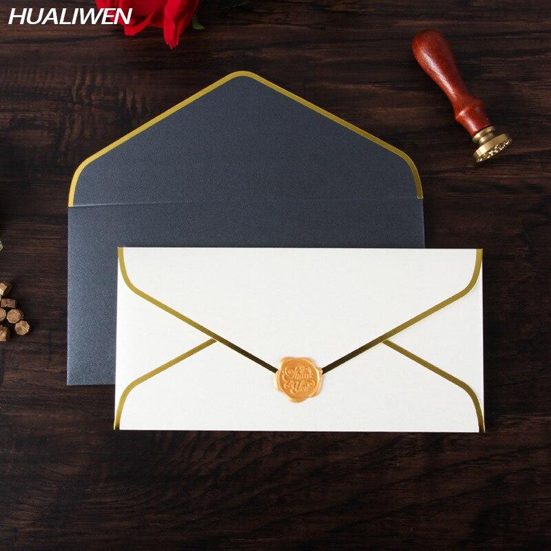 5 uds. Sobres de papel perlado de 220x110MM tarjetas postales sobres haciendo tarjetas de felicitación de colores