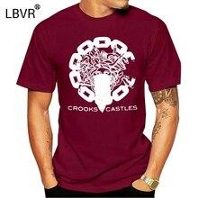 Men t shirt Fashion Crooks and Castles Man Tops Black t-shirt novelty tshirt women
