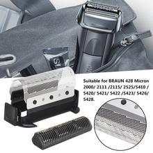 Para Braun 428 máquina de afeitar eléctrica de afeitar de la cabeza de corte, máquina de lámina de repuesto de 2501, 2505, 2514, 2515 de afeitar
