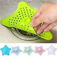 Collecteur de cheveux en silicone  couvercle pour filtrer lors de la vidange  s   utilise comme un bouchon  a mettre sur levacuation deau de levier  pour la salle de bain  la douche ou la cuisine