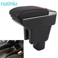 for honda brv armrest box dual layer rotatable central store content box cup holder ashtray usb charging car accessories
