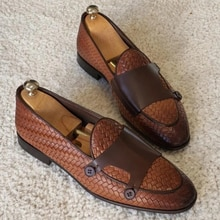 New Fahsion Pu Leather Buckle Strap Men's Dress Shoes Casual Low Heel Business Italian Style Classic