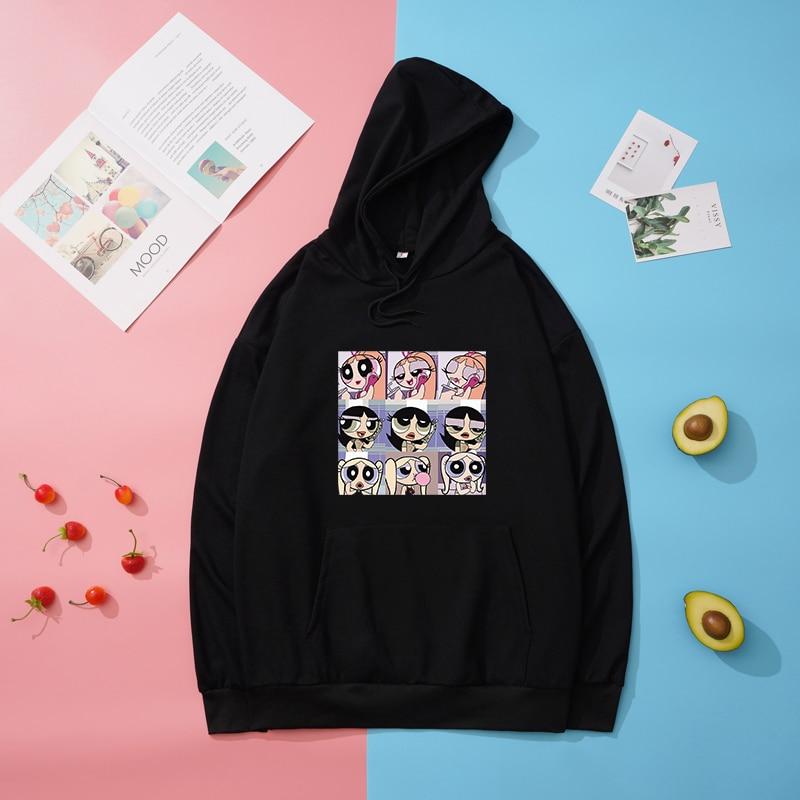 ¡Novedad! Sudaderas powerpuff con mariposas, graciosas camisetas a la moda para chicas y Hombre, Sudadera con capucha de dibujos animados bonitos, jersey de talla grande