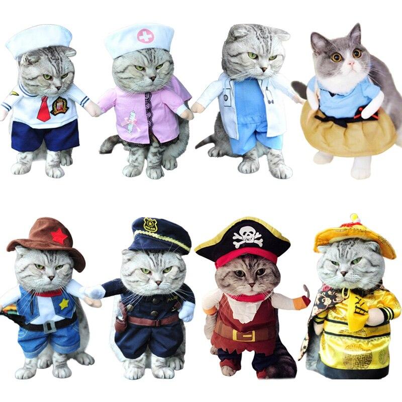 Gato de Halloween disfraz de gato bonito disfraz de pirata ropa de fiesta ropa de juego de rol mascota perro cachorro gatito traje