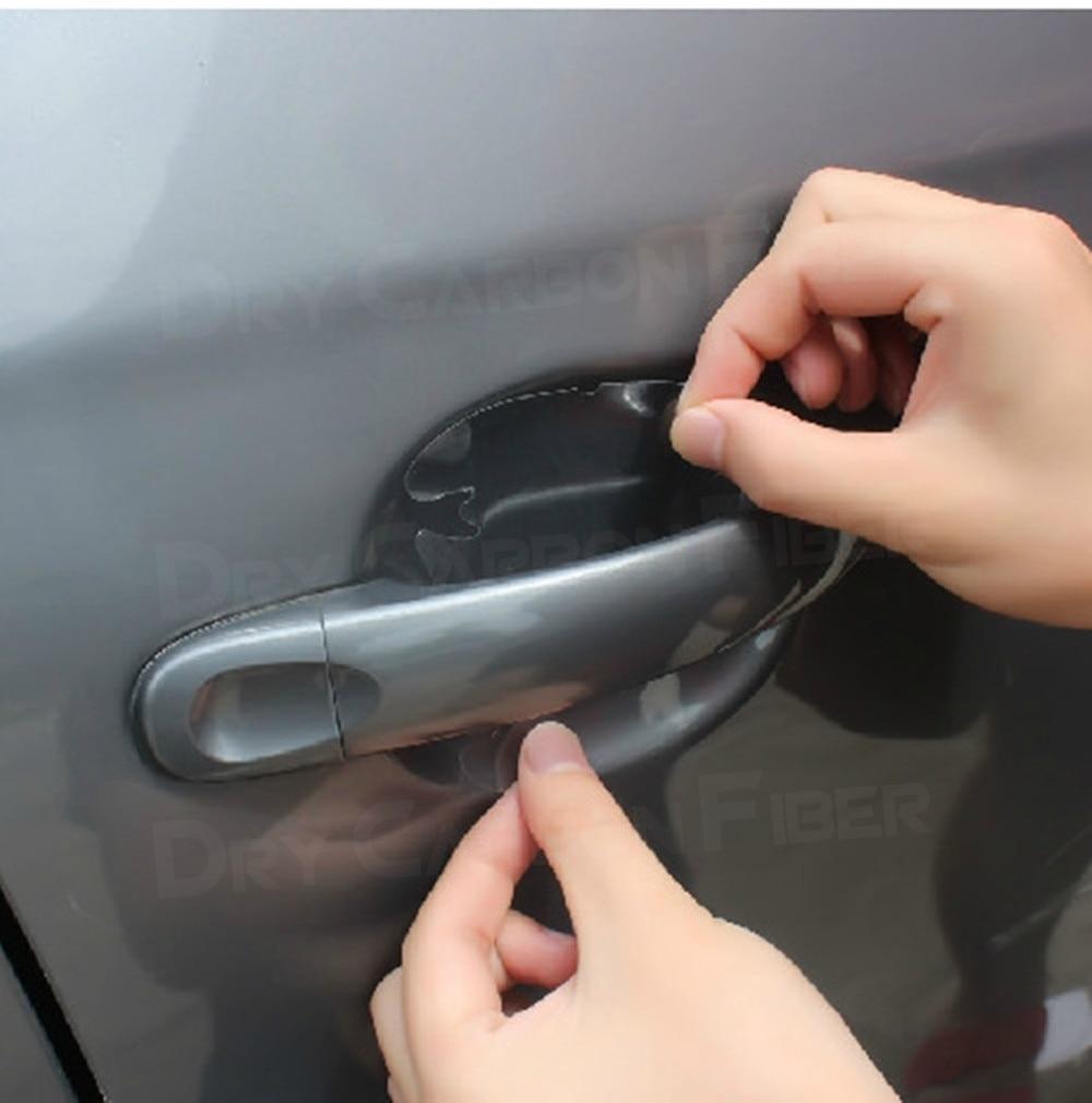 4pcs lot car handle protection film car exterior transparent sticker fit for automotive paint scratch guard 4Pcs Transparent Car Handle Protective Film Door Sticker Scratches Resistant Cover Auto Handle Protection Film Exterior
