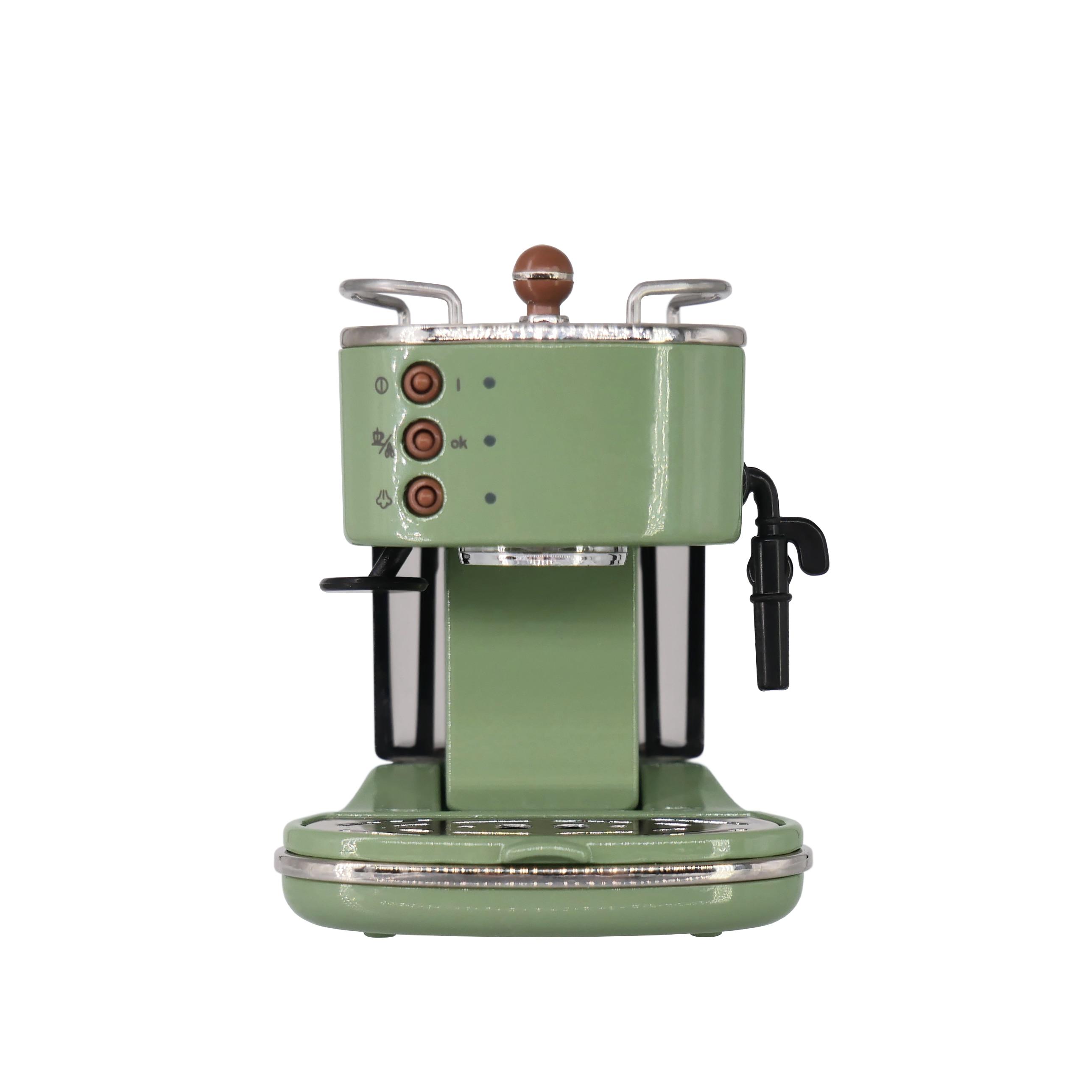 نموذج بيت الدمى 1/6 ، إكسسوارات أثاث ، نموذج ماكينة صنع القهوة الرجعية اللامعة