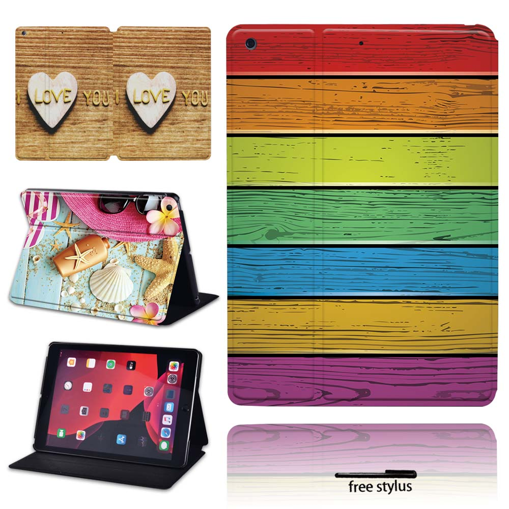 Tablet Folio Smart Flip funda con soporte cubierta para Apple IPad/iPad Mini aire iPad/IPad Pro 7,9, 9,7, 10,2, 10,5, 11 pulgadas Tablet caso + pen