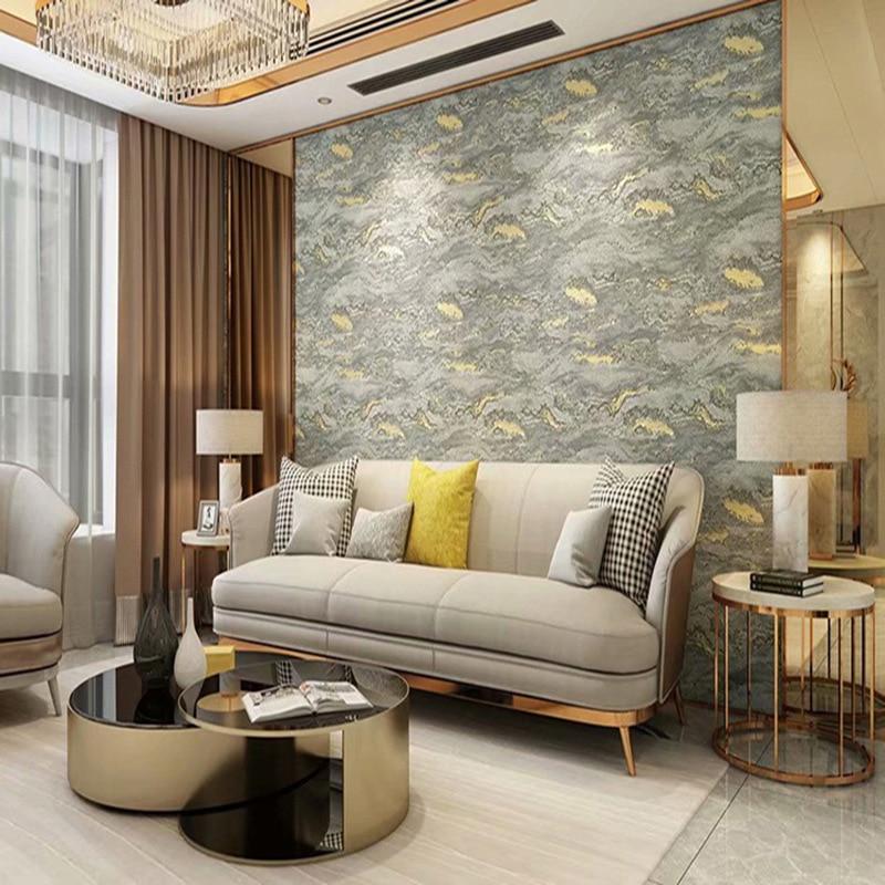 ورق حائط مخملي ثلاثي الأبعاد حديث ، لغرفة المعيشة ، غرفة النوم ، التلفزيون ، ورق الحائط غير المنسوج ، الخشب الاسكندنافي