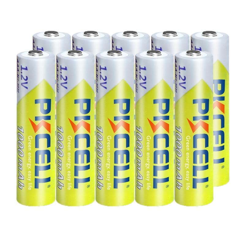 10PCS PKCELL 1.2v NI-MH AAA Battery 3A 1000MAH AAA Rechargeable Battery aaa nimh battery batteries rechargea for flashlight toys