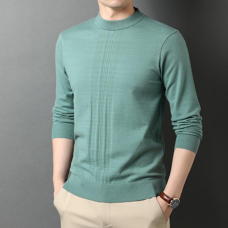 2021 брендовая одежда, мужской зимний облегающий вязаный свитер/мужской высококачественный модный комплект для отдыха, Вязаные Рубашки