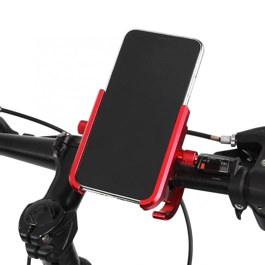Bike Motocycle Phone Holder CNC Aluminum Alloy Bike Smartphone Support 180 Rotation Holder Mount Bracket for 20-28mm Handlebar