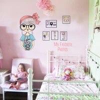 Autocollant Mural a la mode pour filles  decoration de chambre denfant  belle fille  decoration murale en vinyle  decor de maison  papier peint affiche dart Mural