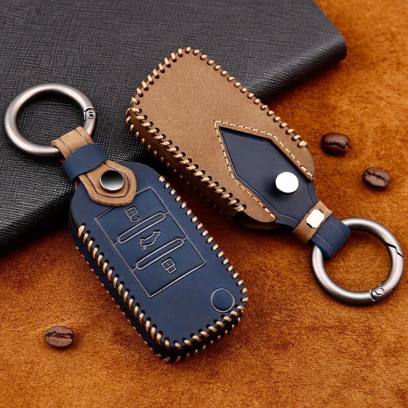 Cubierta de cuero superior para llave de coche Roewe RX5 i6 ERX5 i5 RX8 RX3 para MG MG6 ZS EV EZS HS EHS accesorios de carcasa protectora
