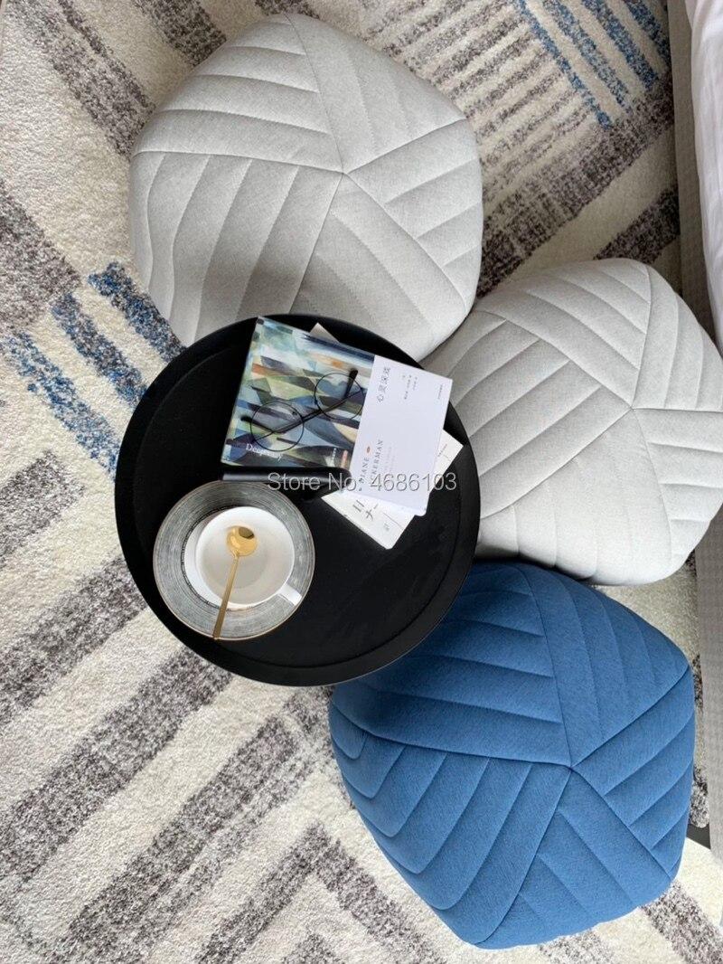2019 hexágono nórdico otomanos tela de lino otomanos taburete otomano taburete largo para exhibición/tienda de ropa/sala de estar