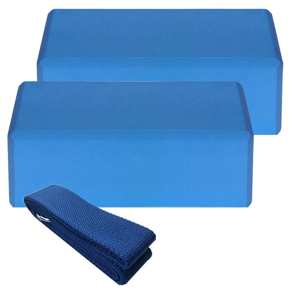 Аксессуары для йоги кирпич 2 шт EVA блоки и 1 шт хлопковый ремень для йоги стабильные блоки для йоги набор для йоги Пилатес Медитация
