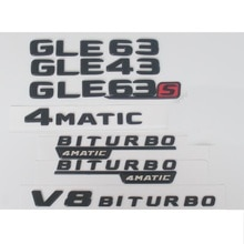Benz Black W166 C292 GLE43 GLE63 GLE63s GLE 63 S   Emblème AMG V8 BITURBO 4MATIC 4MATIC + emblèmes, Badges