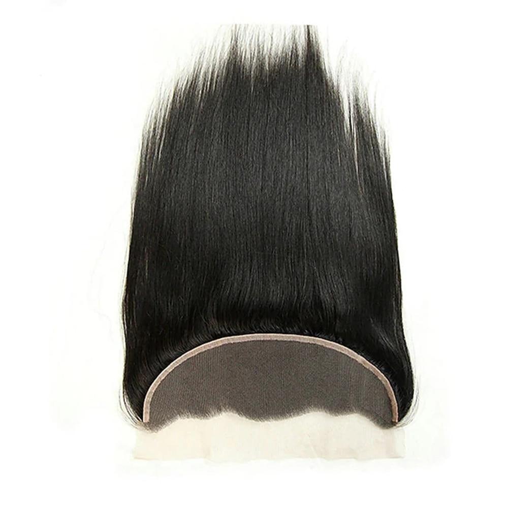 13 x4 Closure Straight Free Part Middle Part / Side Part Korean Lace Remy Human Hair Women's Lace Closure Black 1B Color