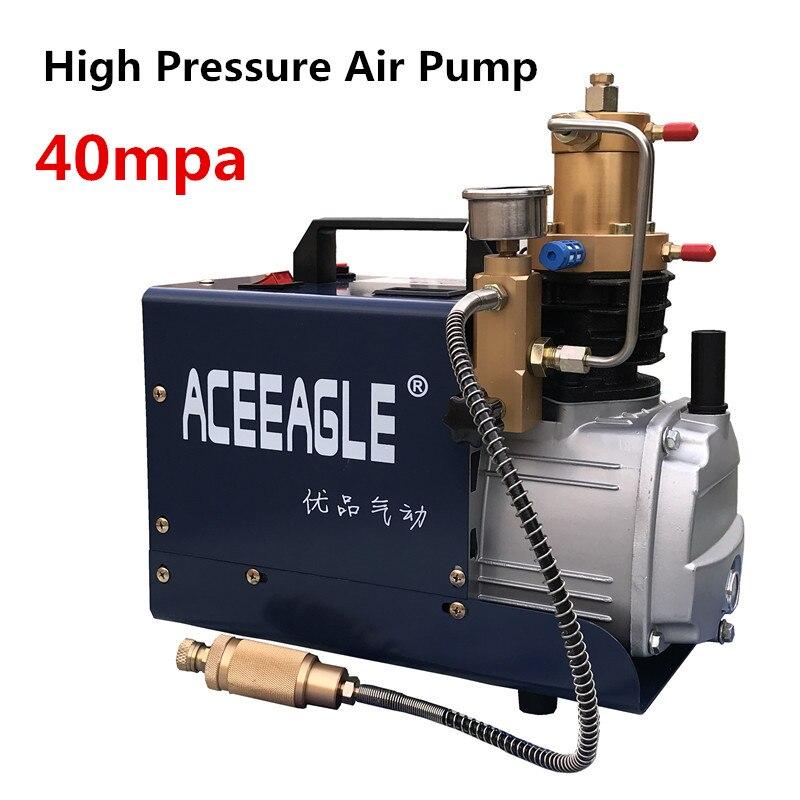 220 فولت 1.8KW 40 ميجا باسكال ضاغط الهواء الكهربائي ارتفاع ضغط مضخة هواء هوائي Airgun PCP نافخة مع ارتفاع ضغط صمام الأمان