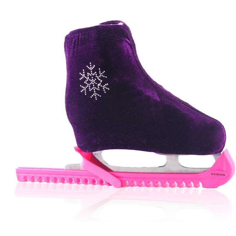 1 пара, обувь для фигурного катания на коньках, бархатная, с алмазным покрытием, для катания на роликах, нескользящая, фланелевая, эластичная, для детей, для взрослых, S M L