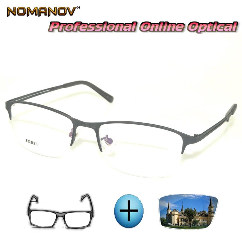Custom Made Prescription Glasses Optical Photochromic Myopia Reading Glasses Business Comfort Glasse