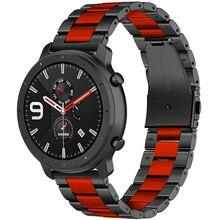 22Mm Rvs Bandjes Voor Xiaomi Huami Amazfit Stratos 3 2/2S Smart Horloge Band Vervangen Armbanden voor Amazfit Tempo Gtr 47Mm