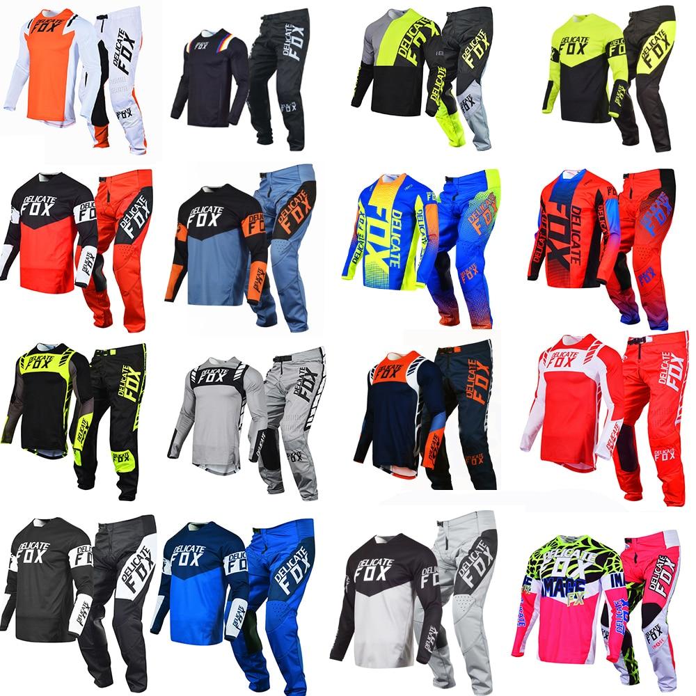 2021 Delicate Fox 180/360 Jersey Pants Motorbike Motocross Suit Mountain Bicycle Offroad Gear Set Mens Kits