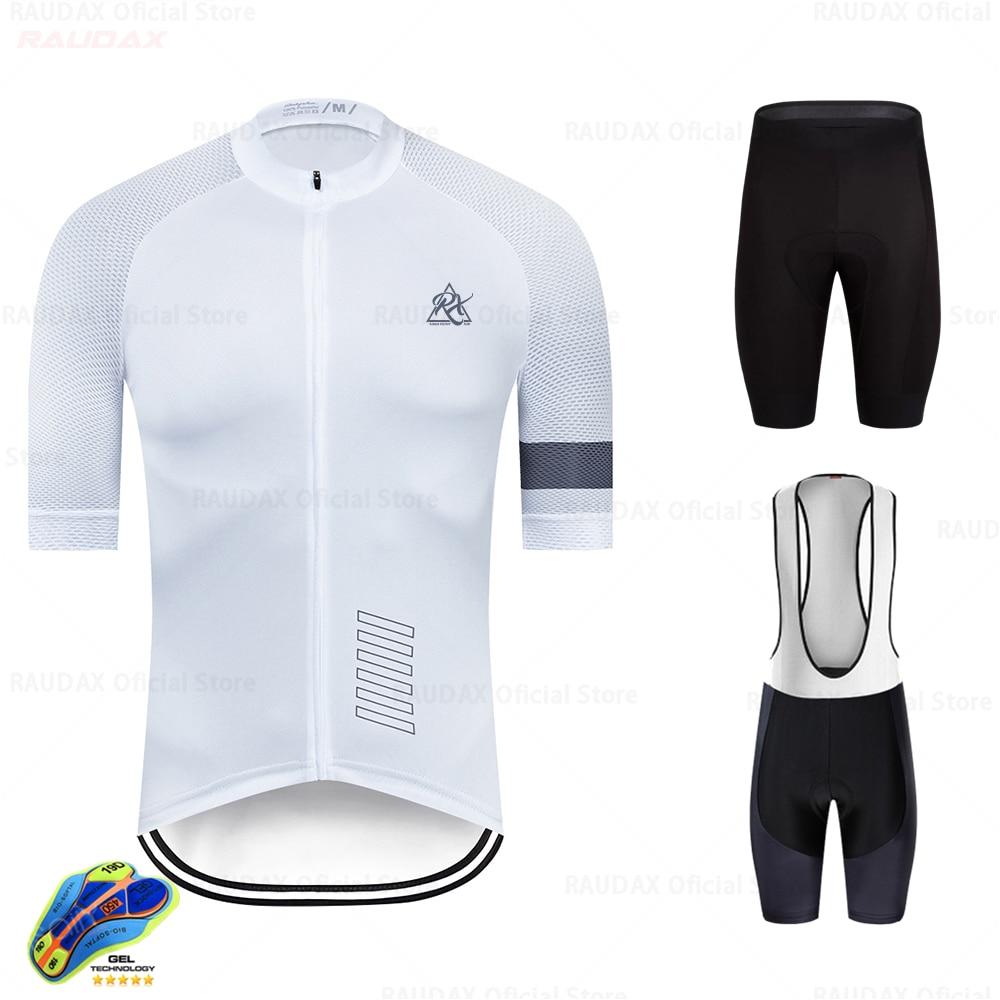 2020 Raudax estilo de Hombre Ciclismo Jersey ropa de bicicleta de manga...