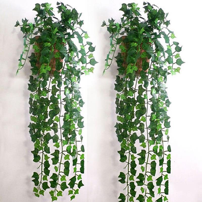 1 Uds verde Decoración de casa 2,5 m delicada guirnalda de hojas de hiedra Artificial plantas de vid falsa follaje flores hermosa boda fiesta suministros