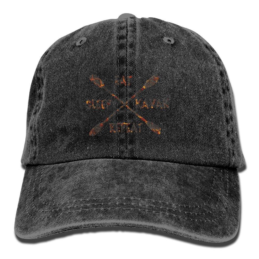 Eat Sleep River Kayak Adult Sport Adjustable Baseball Cap Cowboy Hat