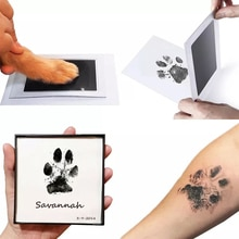 Kits de almohadillas de tinta con huellas de bebé recién nacido, accesorios para marcos de fotos DIY, recuerdo de huellas de huella de perro, gato, mascota