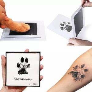 Newborn Baby Footprints Handprint Ink Pads Kits for DIY Photo Frame Accessories Newborn Baby Pet Cat Dog Paw Prints Souvenir