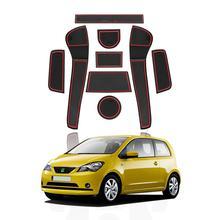 LFOTPP Door Groove Mat For Up/ Mii/Citigo 2016 2017 2018 2019 Car Anti-slip Mat Rubber Gate Slot Pads Auto Interior Accessories