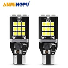 ANMINGPU 2x Signal Lampe T15 Led-lampen 24SMD 3030Chips W16W Led 912 921 Backup Licht Auto Reverse Licht Parkplatz lampe Weiß 12V