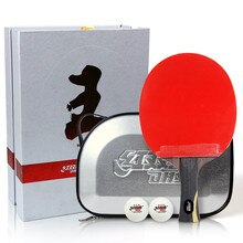 DHS Hurricane King Wang Liqin Hurricane 3 Fast break Loop Table Tennis Racket set ping pong bat