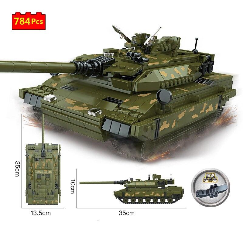 Serie militar de la 2. ª Guerra Mundial, Alemania, leopardo, tanque de batalla principal, arma DIY, modelo de construcción, bloques, juguetes, regalos