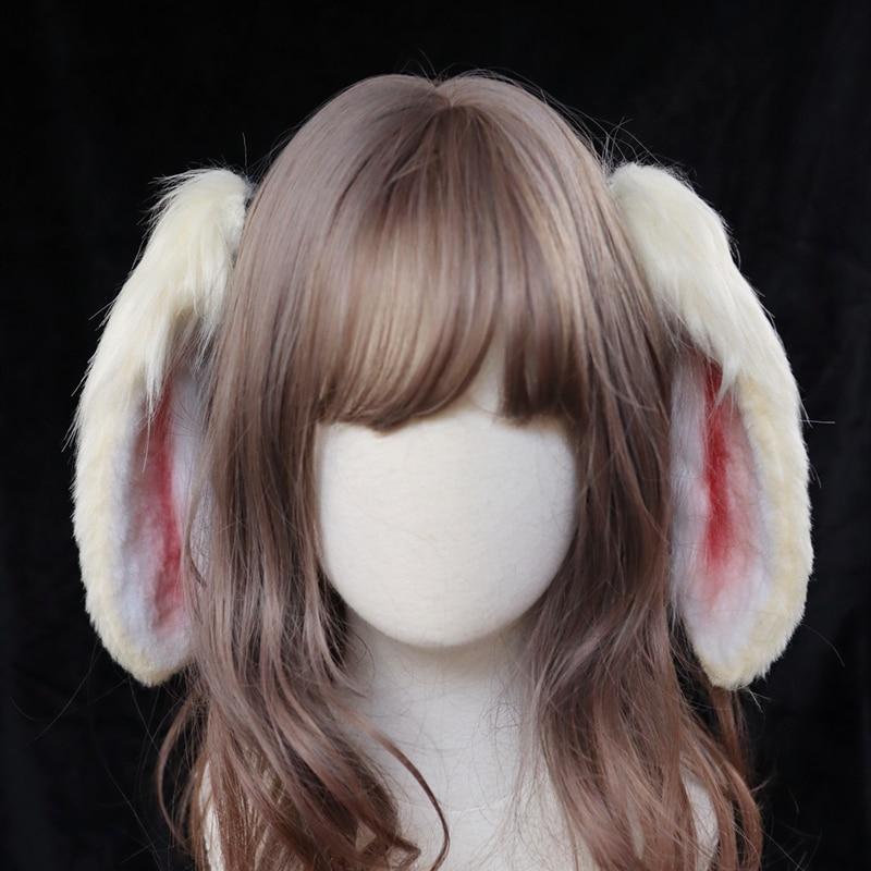 MMGG-عصابة رأس لأذن الأرنب ، مصنوعة يدويًا ، إكسسوارات أزياء تنكرية ، عصابة رأس متحركة ، لوليتا ، أصلية
