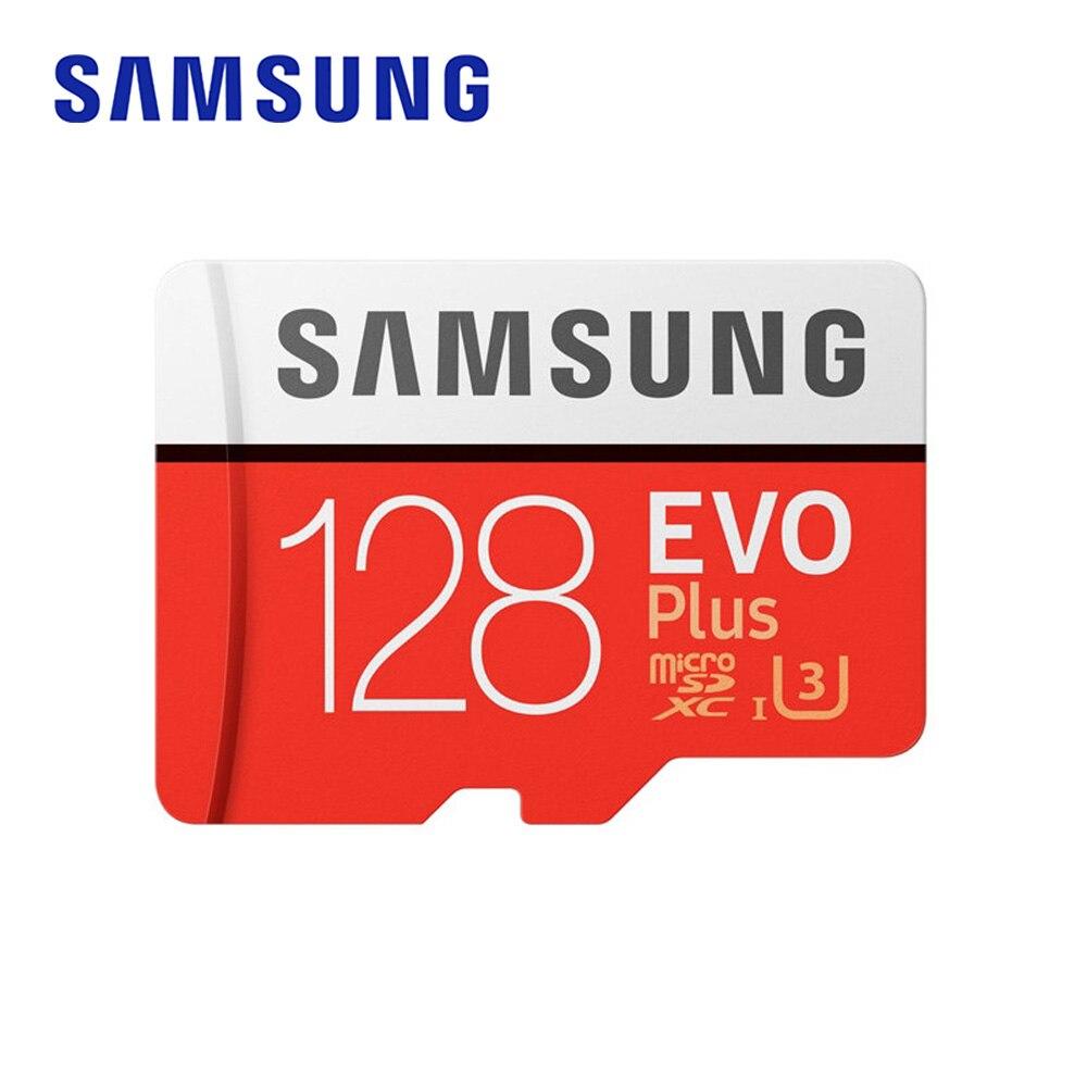 Tarjeta de memoria SAMSUNG EVO Plus 128GB 100 MB/s tarjeta Micro SD TF C10 U3 UHS-I 4K memoria Flash UHD para Smartphone tableta con adaptador