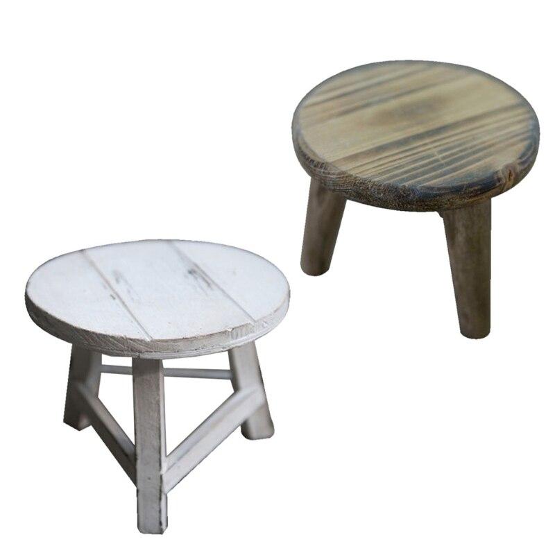 Реквизит для фотосъемки новорожденных деревянные настольные чайные столы детские деревянные реквизиты для фотосъемки аксессуары для фото...