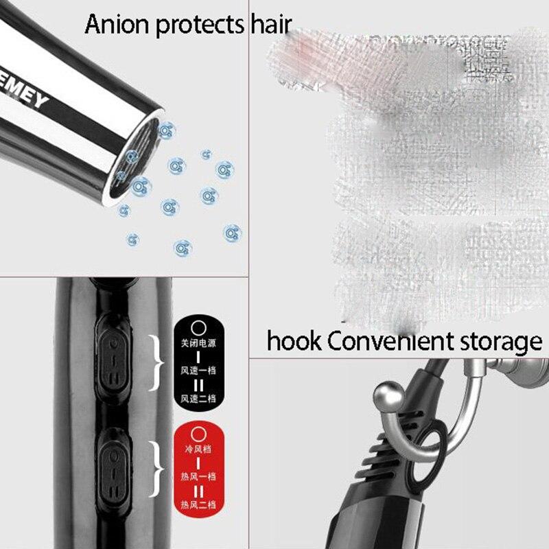 Kemei 3000 Watt Full Size Pro Föhn Professionele Salon Föhn Met Concentrator Nozzle Bijlagen 3 Snelheden Snel Droog enlarge
