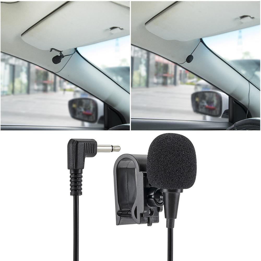 Onkar profissional 3.5mm microfone do carro auto rádio estéreo mini plug microfone externo para o carro dvd gps multimídia navi 3 m