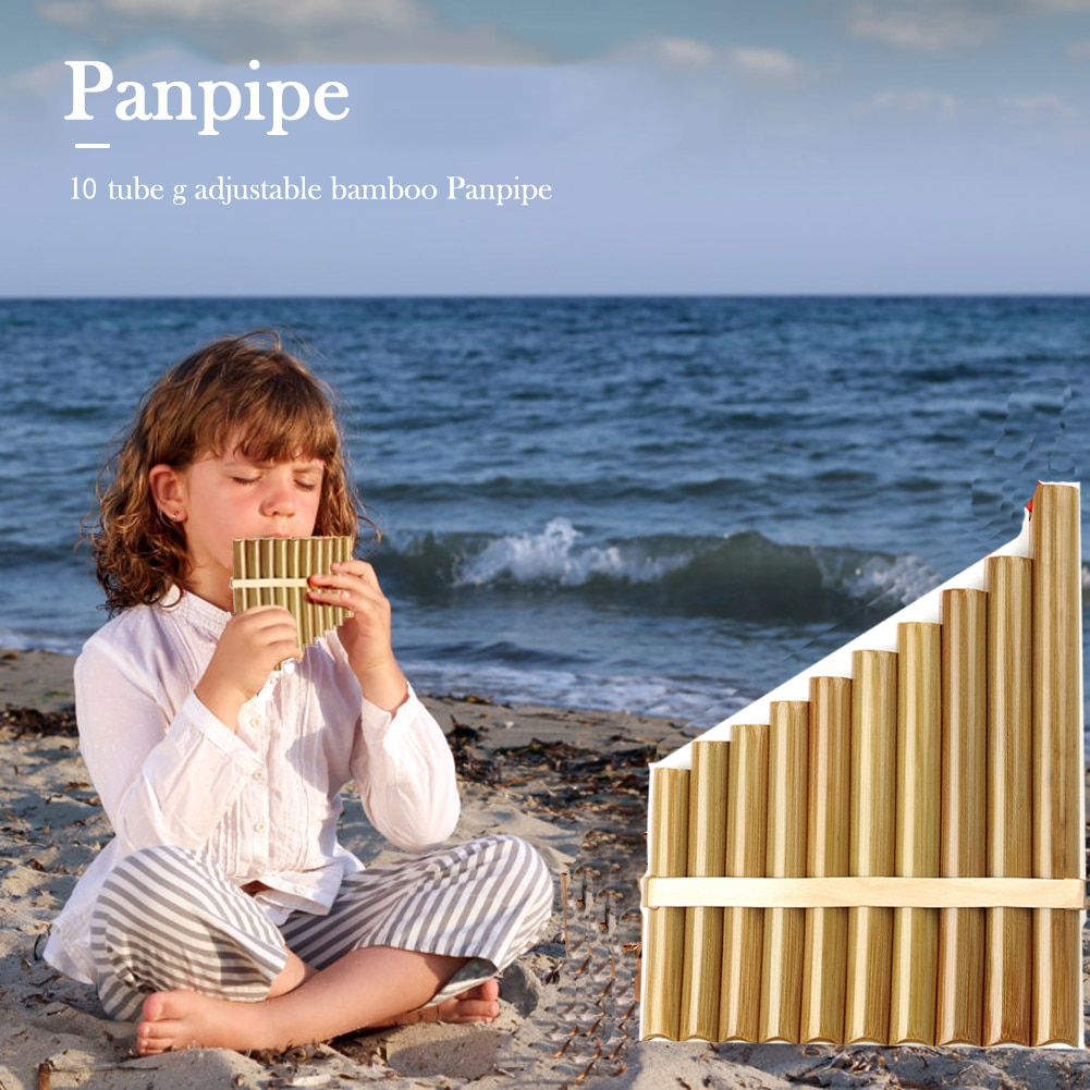 10 Pipes Right Hand Pan Flute Folk  Musical Instruments Original Colour Flute De Pan Woodwind Instruments  Pan Pipes enlarge